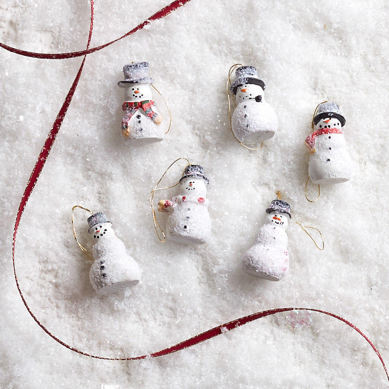 Miniature Snowman Ornaments Christmas Ornaments