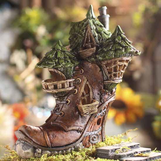 fiddlehead fairy garden shoe house