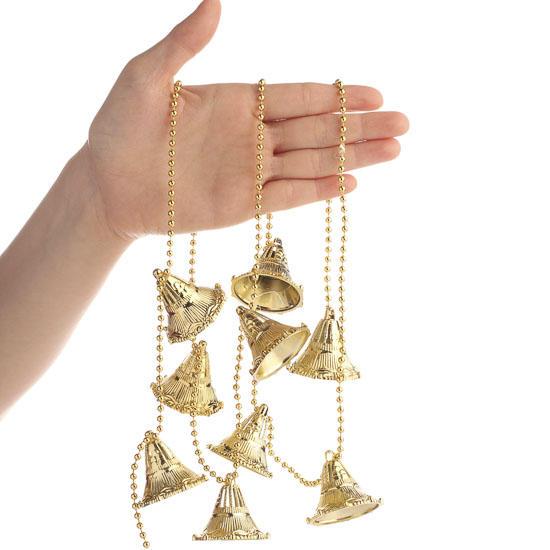 Christmas bell bead garland