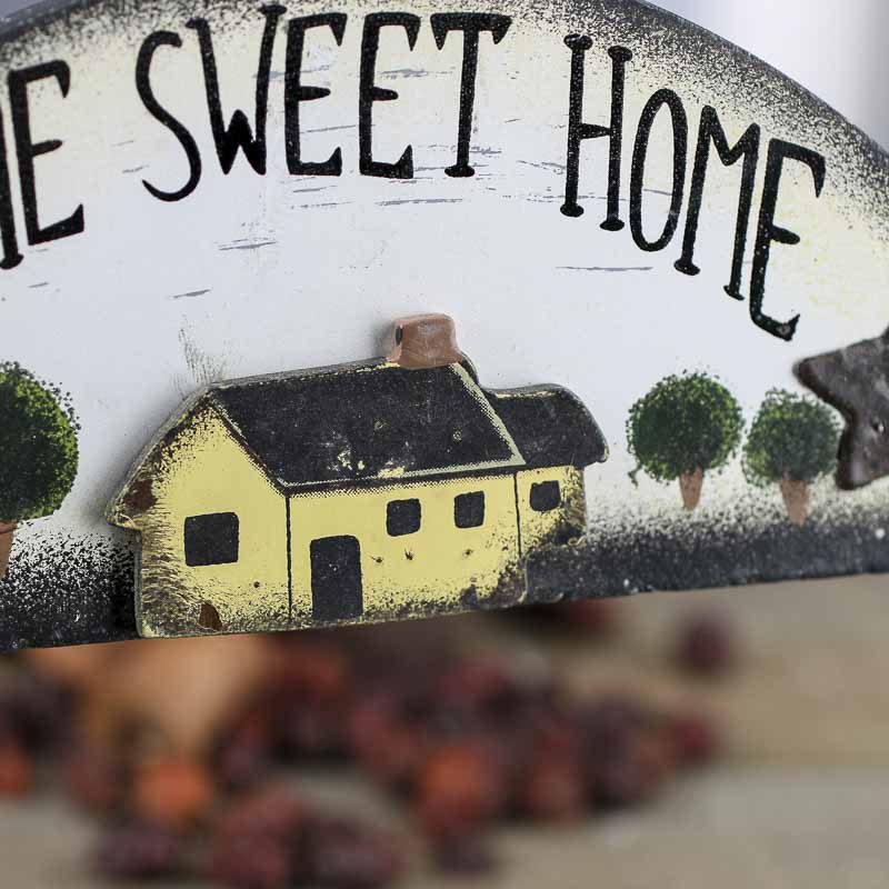 "Primitive ""Home Sweet Home"" Wood Sign"