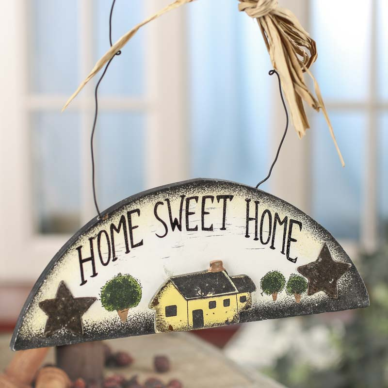 "Primitive ""Home Sweet Home"" Wood Sign - Signs and Frames ..."