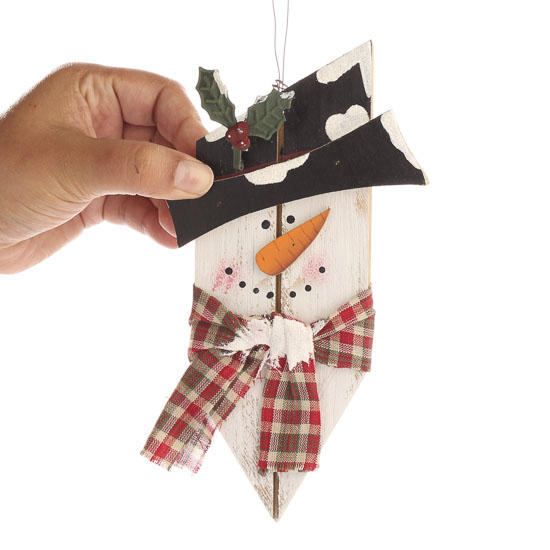 Crafts for wood planks - How to make a snowman out of wood planks ...