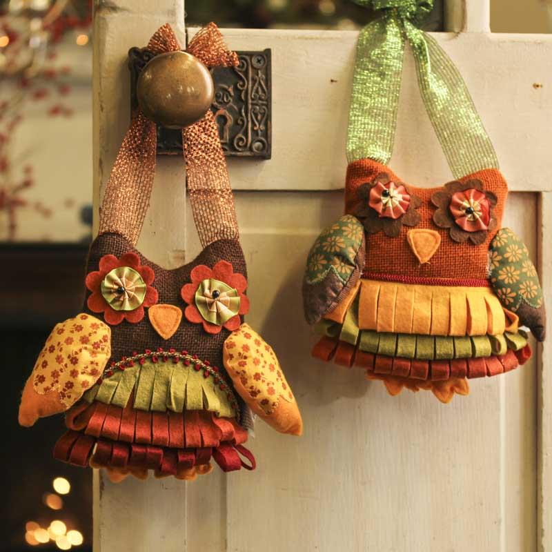 Decorating Ideas > Owl Door Hanger  Fall And Halloween  Primitive Decor ~ 102409_Halloween Owl Door Hanger