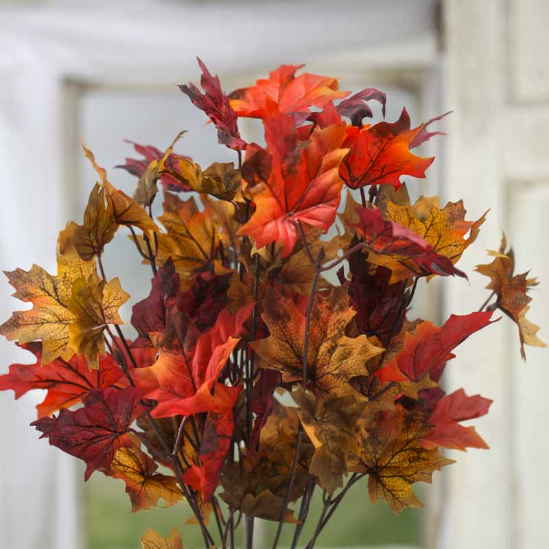 Fall Artificial Maple Leaf Bush Fall Florals Fall And