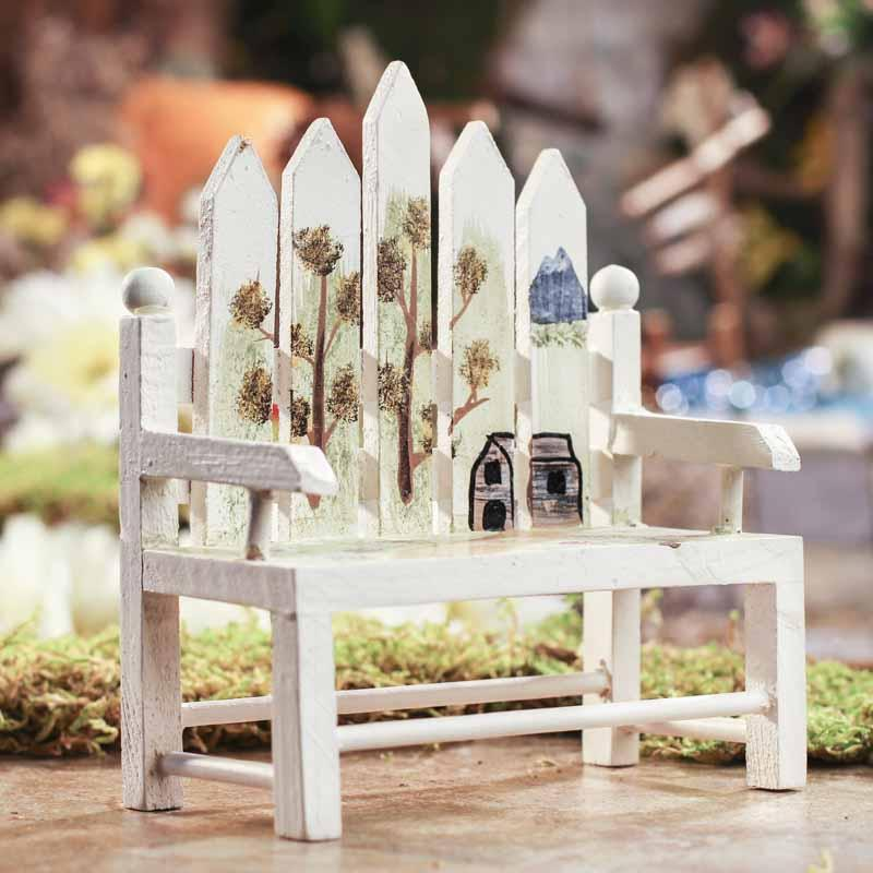 Mini Picket Fence Park Bench Doll Accessories Doll