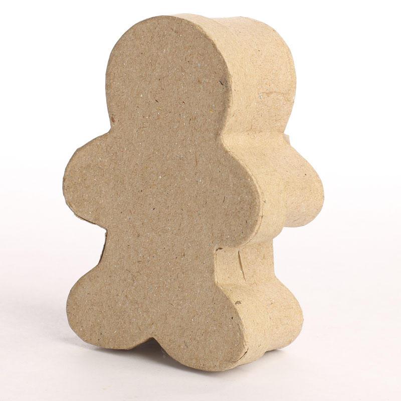 Paper Mache Gingerbread Man Box Paper Mache Basic