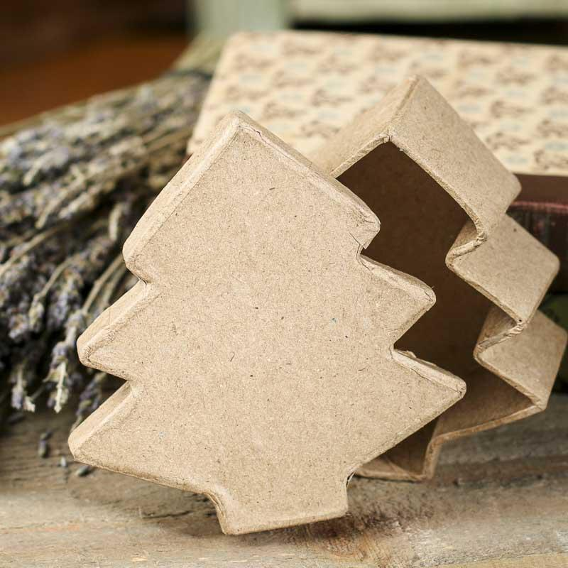 Paper Mache Christmas Tree Box - Paper Mache - Basic Craft ...
