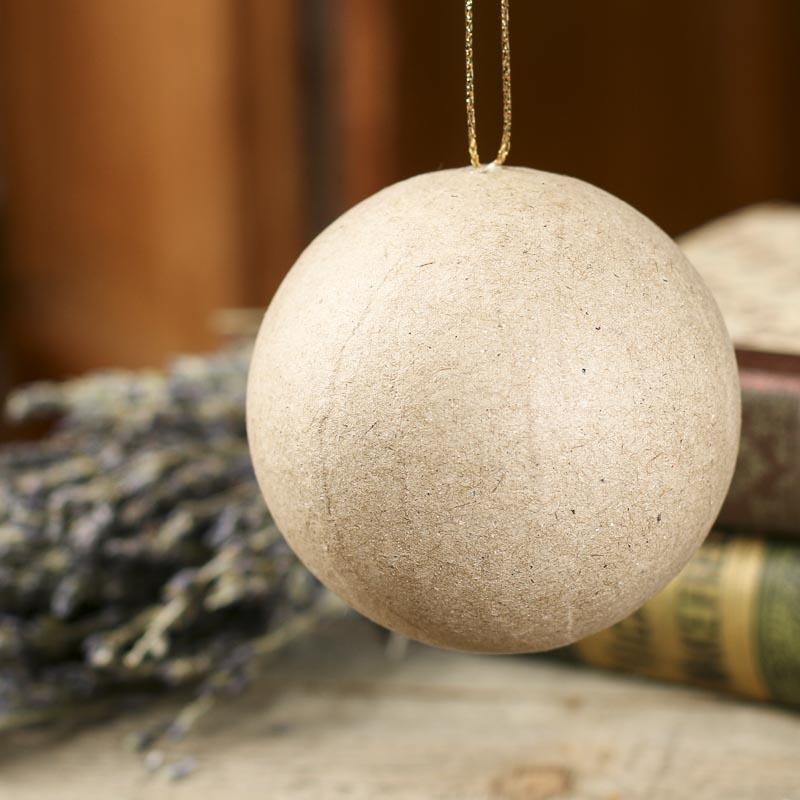 Click Here For A Larger View - Paper Mache Ball Ornament - Paper Mache - Basic Craft Supplies