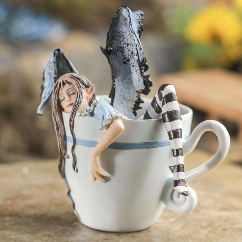 'I Need a Cup of Coffee' Fairy - Table Decor - Home Decor