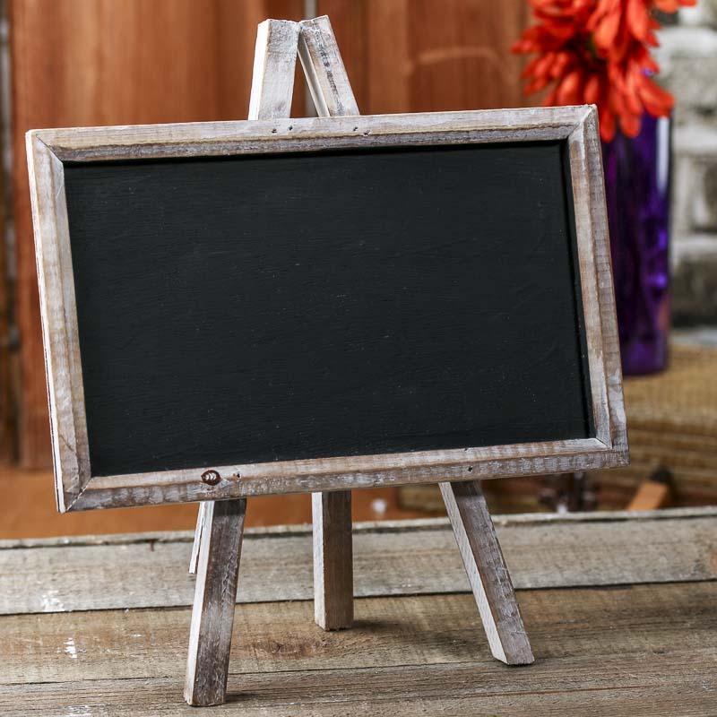 Distressed Wood Chalkboard Easel Mini Chalkboards