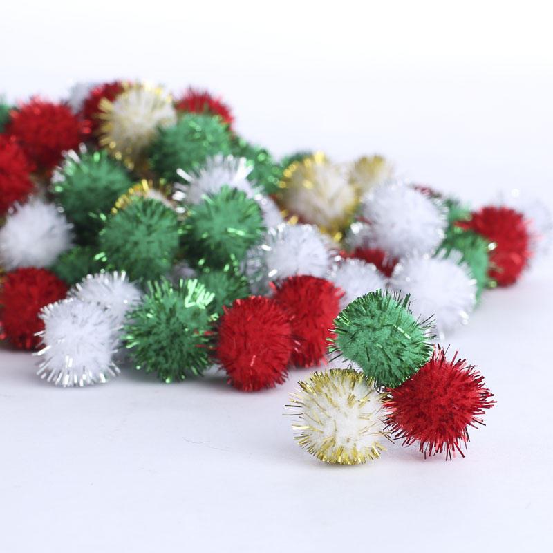 Christmas tinsel craft pom poms kids crafts