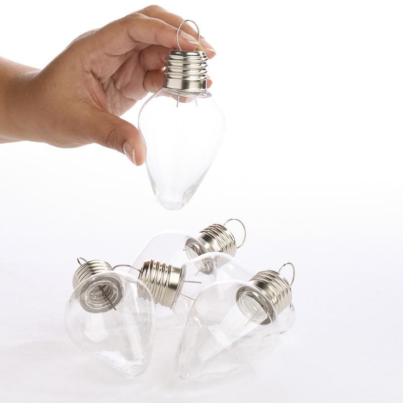 Acrylic Fillable Light Bulb Ornaments Acrylic Fillable