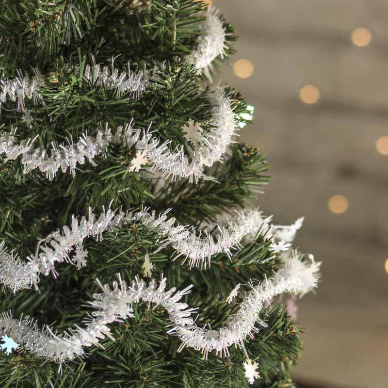 Snowflake tinsel garland christmas garlands