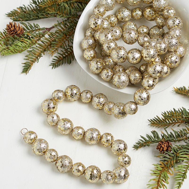 Platinum glitter ball string garland christmas garlands