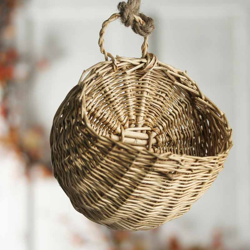 Small Wall Wicker Basket Baskets Buckets Amp Boxes
