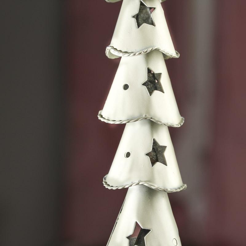 White Wash Tin Christmas Tree - Christmas Trees and Toppers ...