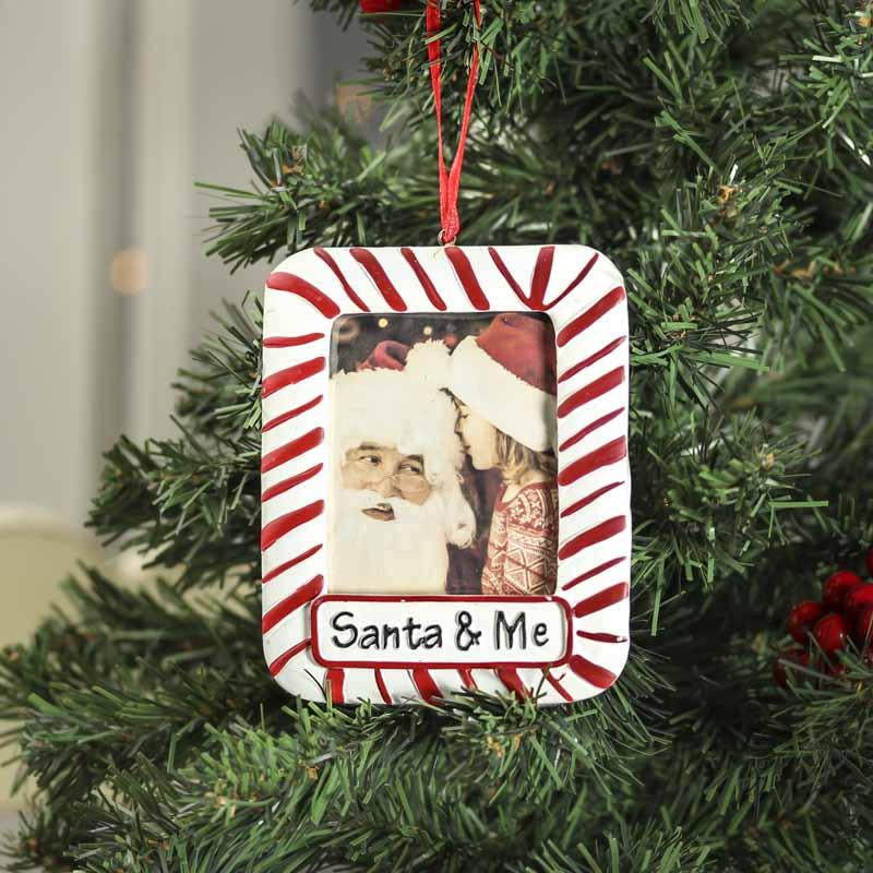 Santa and me photo frame ornament on sale home decor for Photo frame ornament craft