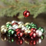 miniature christmas ball ornaments - Miniature Christmas Decorations Uk
