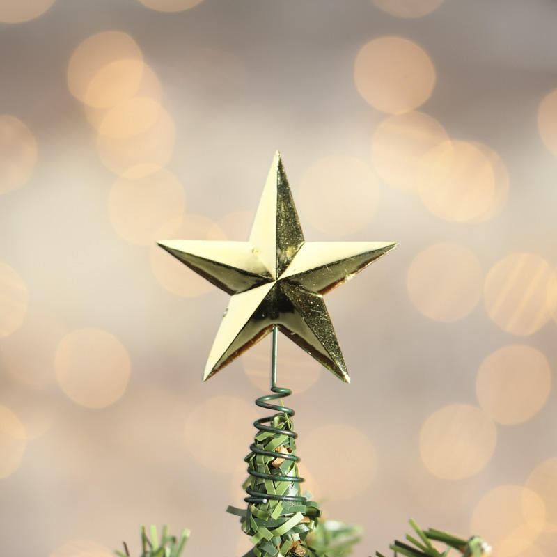 Star For A Christmas Tree: Miniature Gold Star Tree Toppers