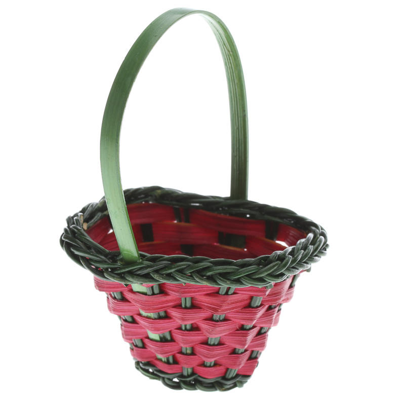 Small christmas wicker and reed basket on sale holiday for Wicker reed
