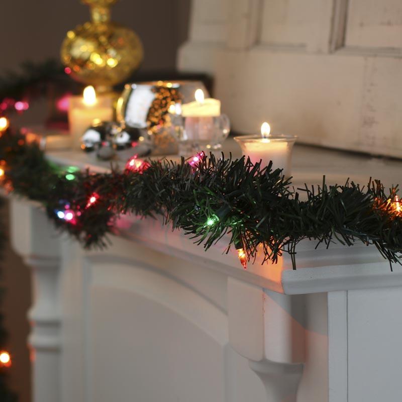 Lighted Pine Garland Christmas Garlands Christmas And
