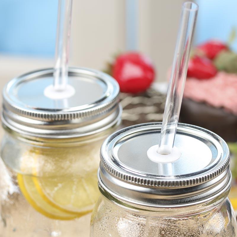 mason jar lid and straw set jar lids basic craft supplies craft supplies. Black Bedroom Furniture Sets. Home Design Ideas