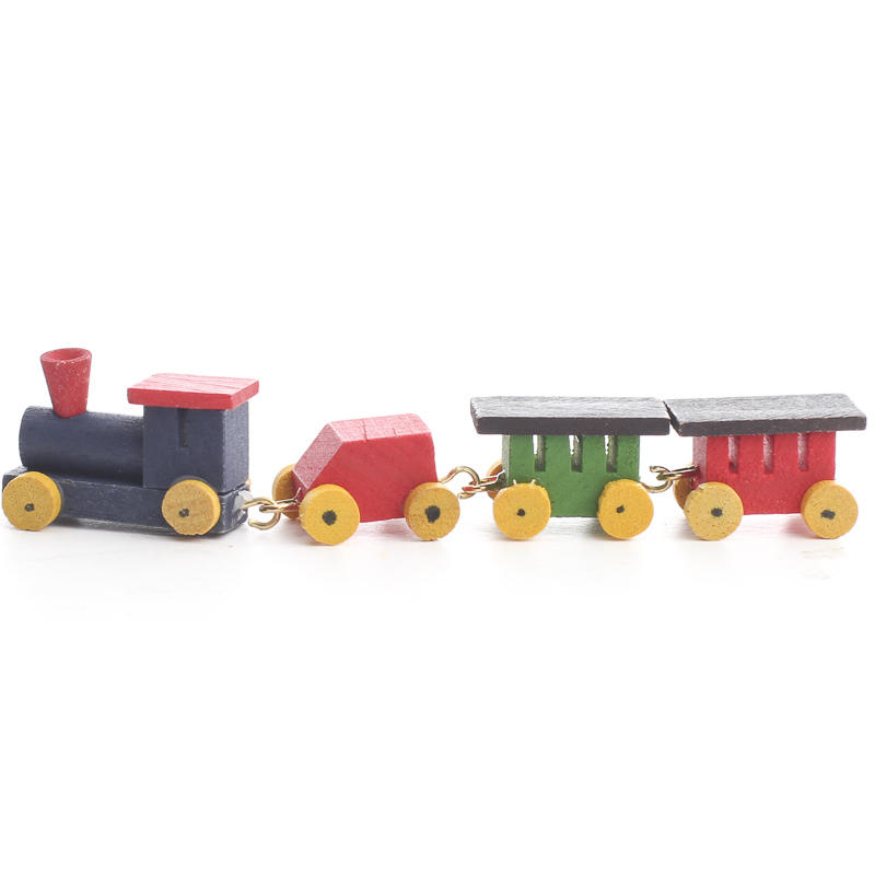 Miniature Wooden Train Set - Christmas Miniatures ...