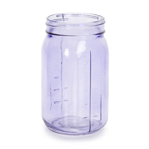 Purple glass canning jar decorative containers kitchen and bath