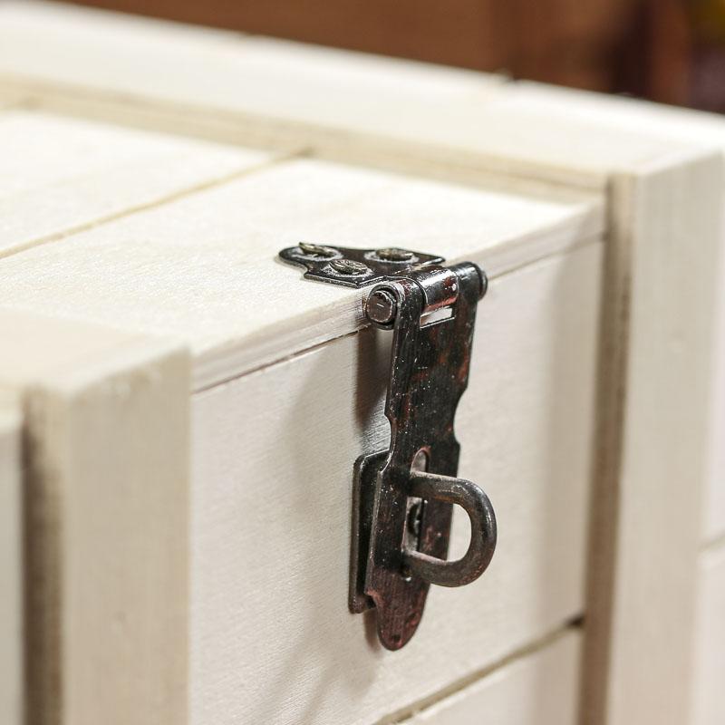 Unfinished Wood Treasure Chest Keepsake Box Table And