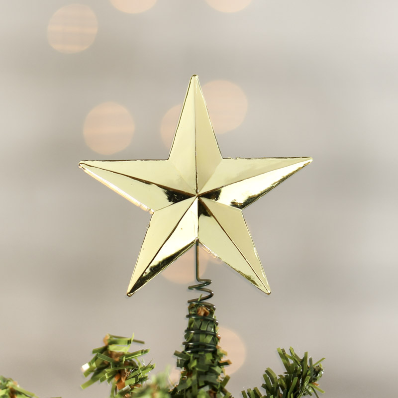 Star For A Christmas Tree: Miniature Metallic Gold Star Tree Topper