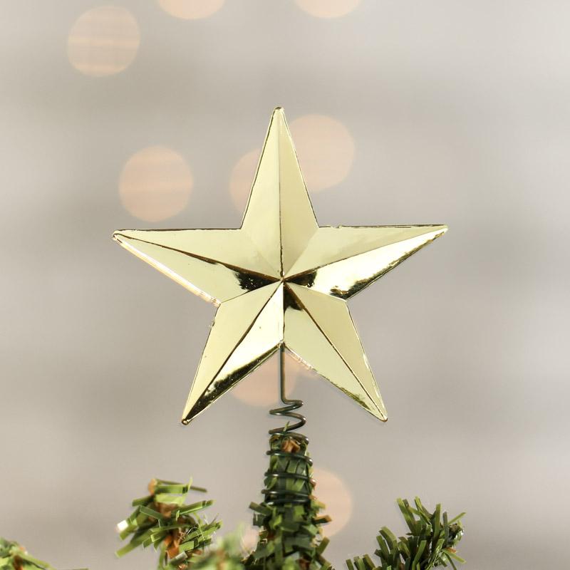 Miniature Metallic Gold Star Tree Topper