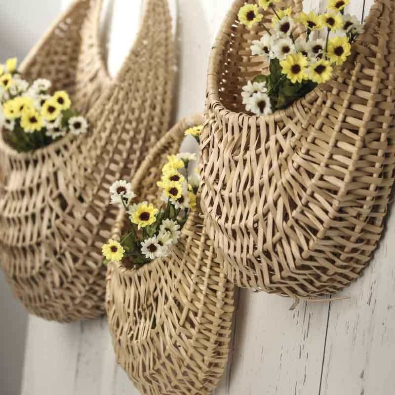 Wall Wicker Baskets Baskets Buckets Amp Boxes Home Decor