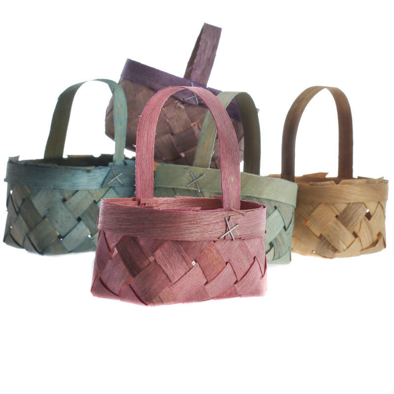 Small Pastel Chipwood Baskets Baskets Buckets Boxes