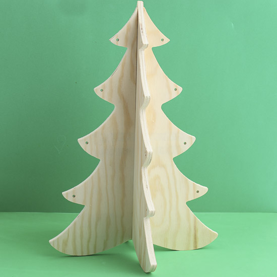 Unfinished Wood Dimensional Christmas Tree Trees And