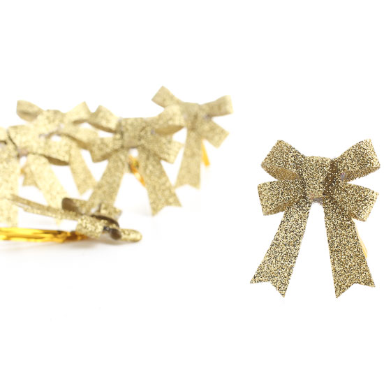 Factory Direct Craft Gold Glittered Star Sprays Package of 6 Pieces