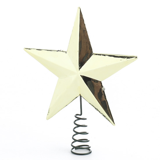 miniature metallic gold star tree topper christmas miniatures christmas and winter holiday. Black Bedroom Furniture Sets. Home Design Ideas