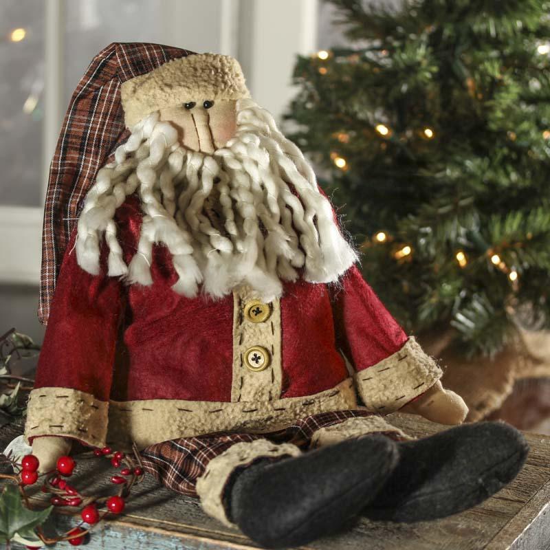 Primitive Americana Santa Doll - Primitive Dolls - Primitive Decor