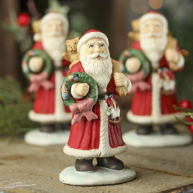 Ceramic santa figurine table decor christmas and