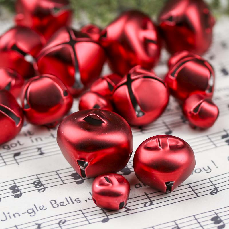 Assorted Matte Red Jingle Bells - Bells - Christmas and ...