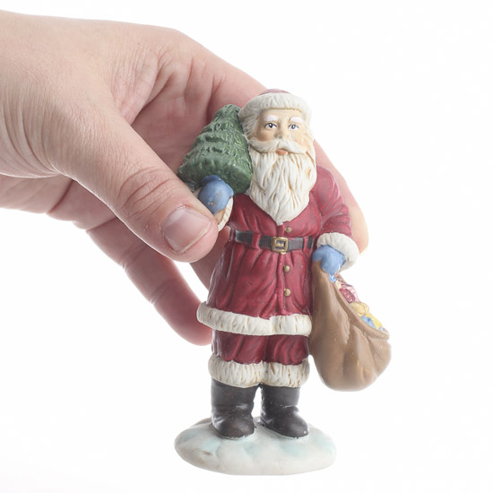 Ceramic santa figurine on sale primitive decor