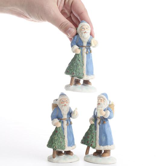 Ceramic santa figurine christmas miniatures