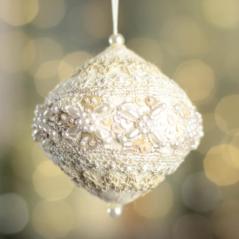 Pearl Christmas Ornaments