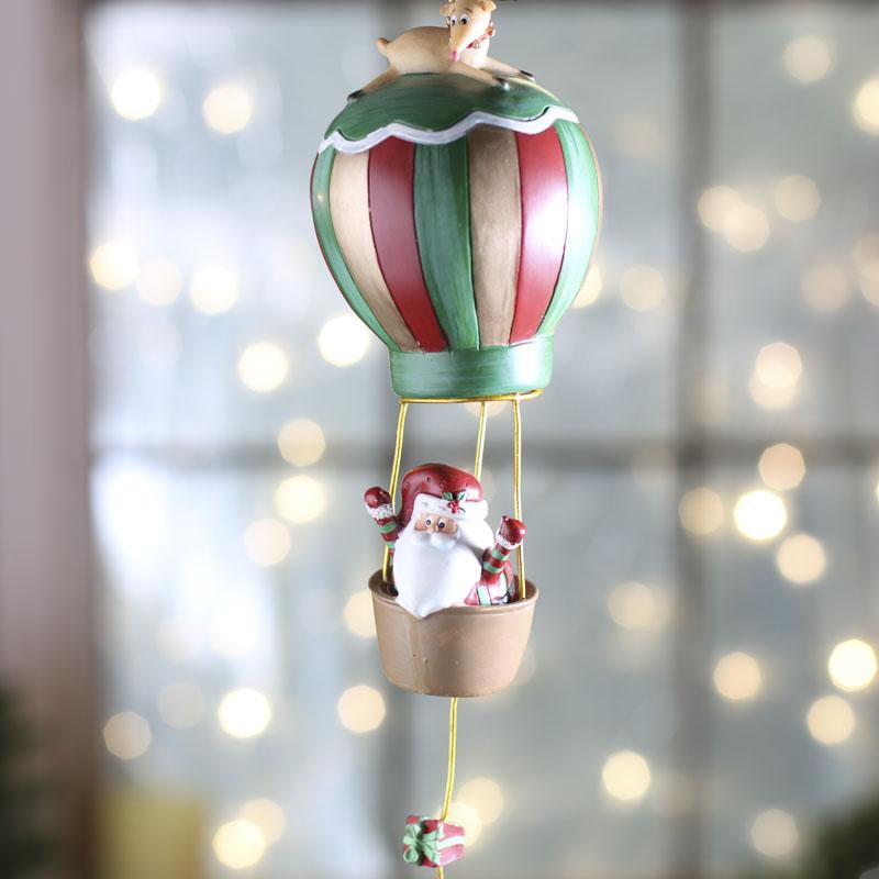 Santa's Hot Air Balloon Ornament - Christmas Ornaments ...