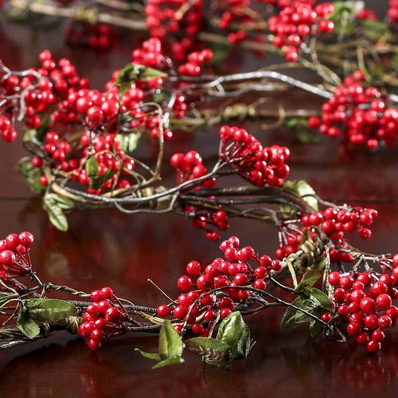 Artificial Winterberry Garland Christmas Garlands
