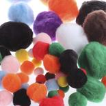 Jumbo Pack Assorted Multicolor Craft Pom Poms