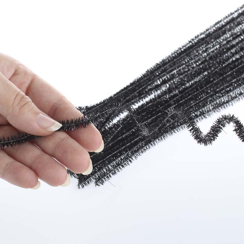 Black Tinsel Pipe Cleaners Pipe Cleaners Basic Craft