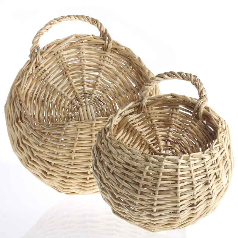 Wall Decor Using Baskets : Wall wicker baskets buckets boxes home decor