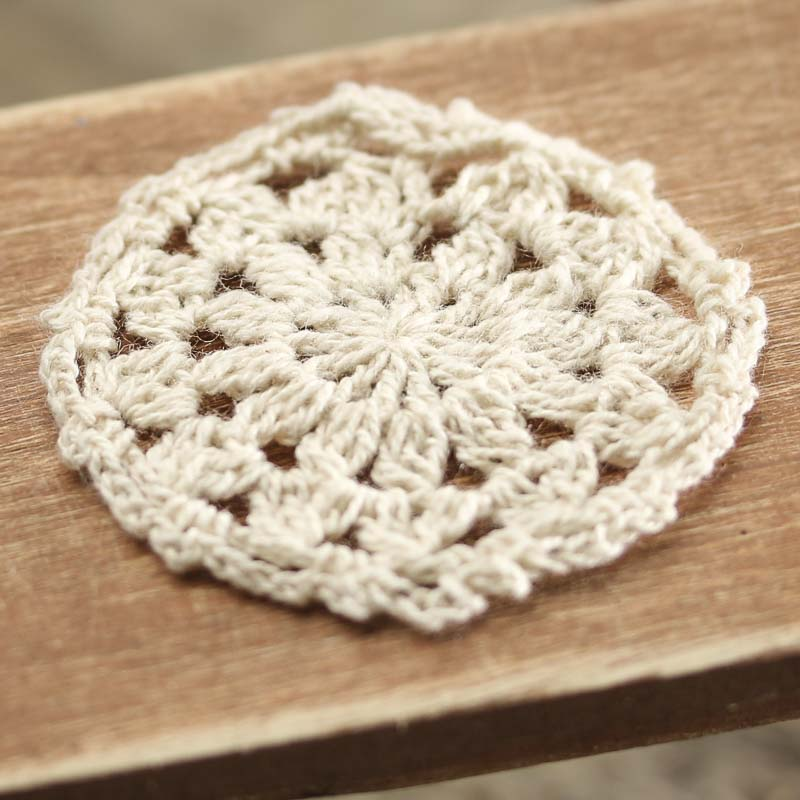 Crochet Doilies : Miniature Ecru Hand Crocheted Doily - Crochet and Lace Doilies - Home ...