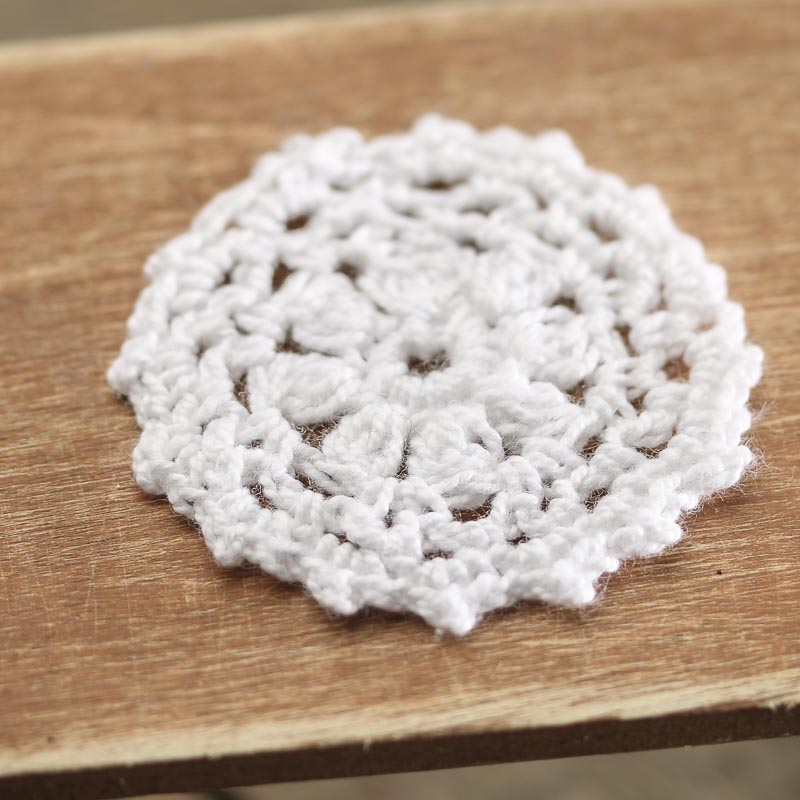 Crocheting By Hand : Miniature White Hand Crocheted Doily - Crochet and Lace Doilies - Home ...