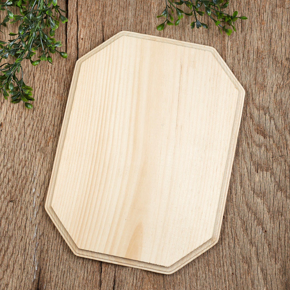 Unfinished Beveled Wooden Plaque Wooden Plaques And